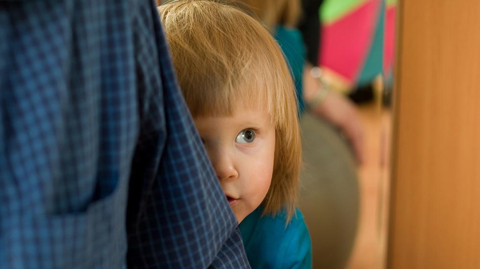 Er barnet ditt sjenert? Illustrasjonsfoto: iStock
