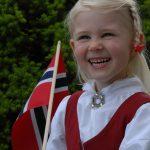 Little girl on Norwegian constitution day