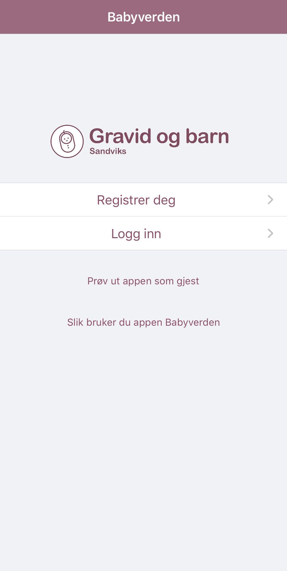 Babyverden-appen