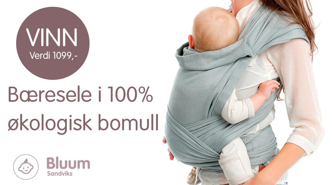 Vinn BB-Tai organisk bæresele fra Bluum på Babyverden