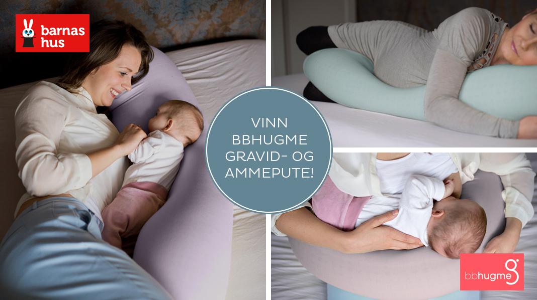 Vinn bbhugme gravid- og ammepute fra Barnas Hus