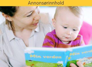 Mor og baby leser bok sammen