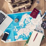 travel-planning-concept-on-map-picture-id891573112