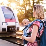 young-mother-travelling-with-baby-by-train-picture-id879068850