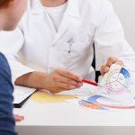 Gynecologist explaining girl menstrual period