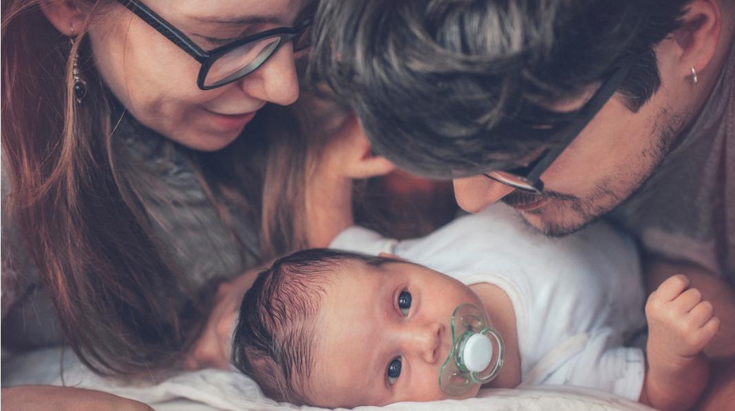 Nyfødt hjem fra barsel