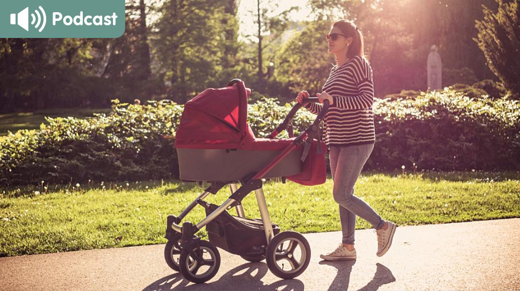 Ikke gå for hardt ut for tidlig. I starten er fysisk aktivitet som turer med barnevognen veldig bra. Illustrasjonsfoto: iStock