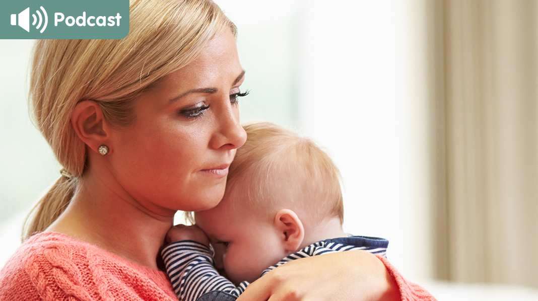 Kjenner du at du er deprimert etter fødselen, er det viktig å vite at du ikke er alene om å ha det slik. Og det finnes hjelp! Illustrasjonsfoto: iStock