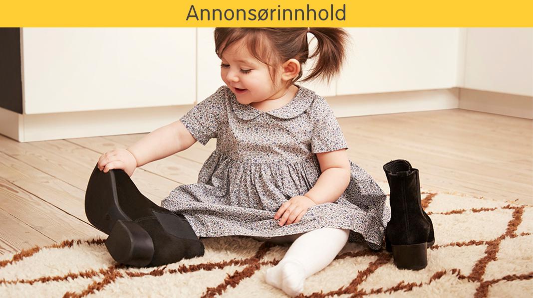 Få hjelp til å finne riktig skostørrelse til barnet ditt