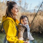 young-mother-and-her-son-are-going-to-catch-some-fish-for-dinner-picture-id1294858565