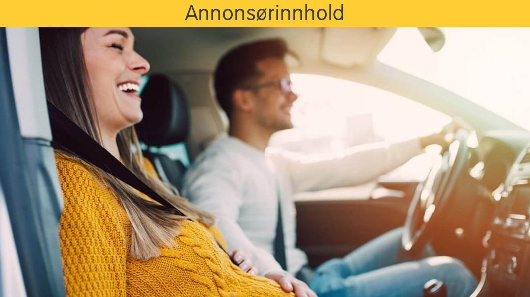 Slik kjører du trygt i bil som gravid