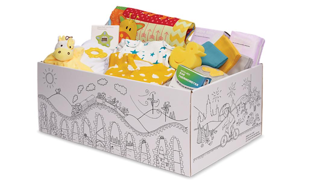 Bildene i artikkelen er hentet fra Baby Box sine egne nettsider, www.parentclub.scot/baby-box