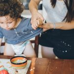 mother-make-the-mess-after-toddler-lunch-picture-id1006811558