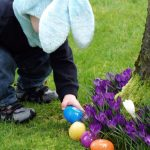 easter-egg-with-a-boy-finding-plastic-eggs-picture-id182517881